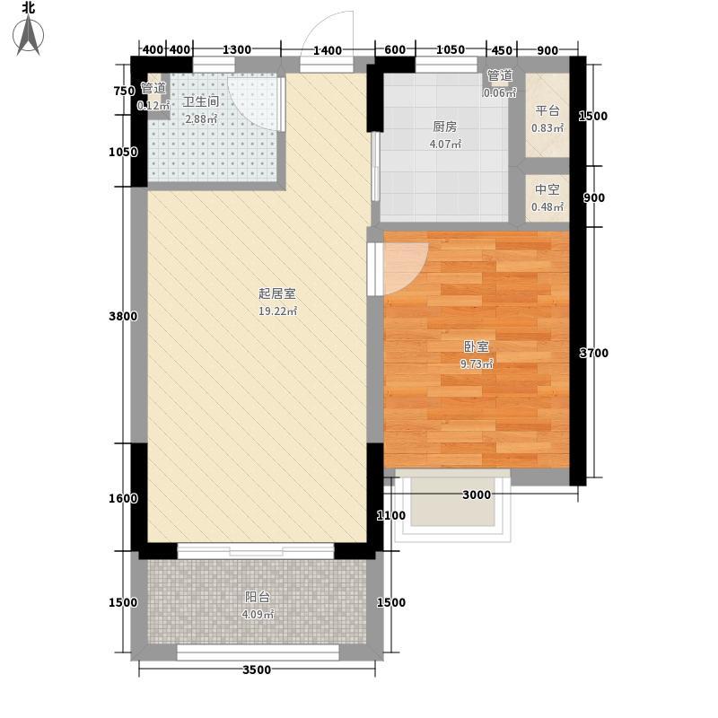 名仕湾60.57㎡名仕湾户型图一室两厅一厨一卫201306181室2厅1卫1厨户型1室2厅1卫1厨