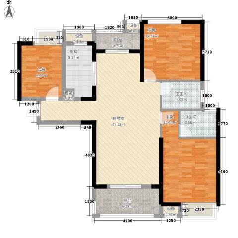 联发九都府3室0厅2卫1厨135.00㎡户型图