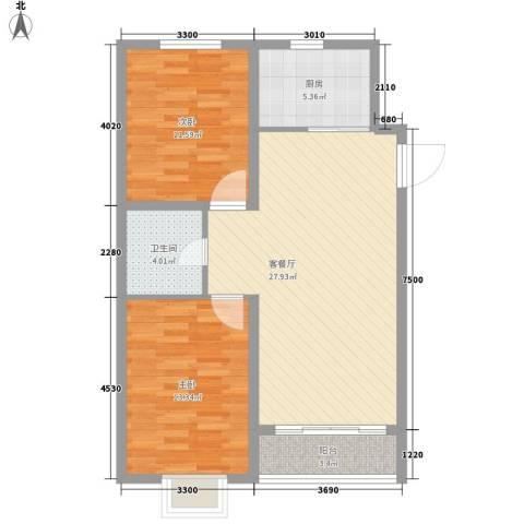 义友小区2室1厅1卫1厨93.00㎡户型图