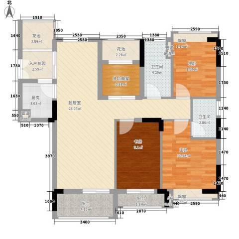 睿山3室0厅2卫1厨123.00㎡户型图