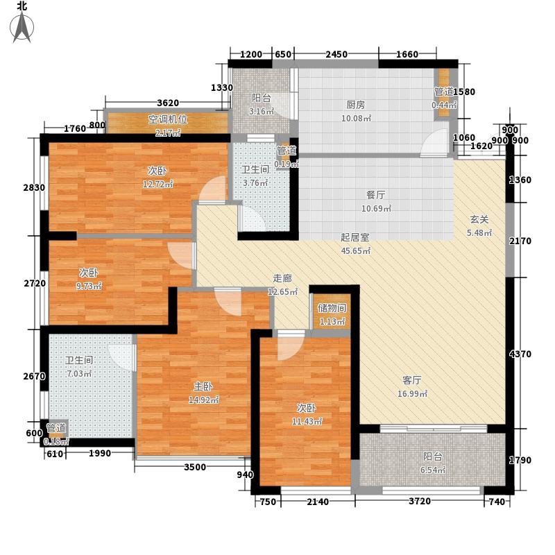 宏济苑102.00㎡户型4室1厅2卫1厨