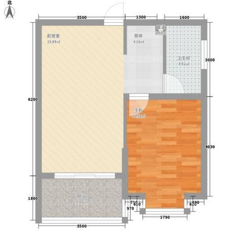 澜香溪谷1室0厅1卫0厨58.00㎡户型图