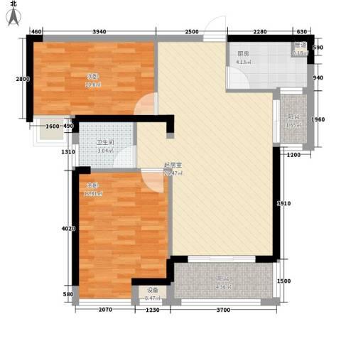联发九都府2室0厅1卫1厨89.00㎡户型图