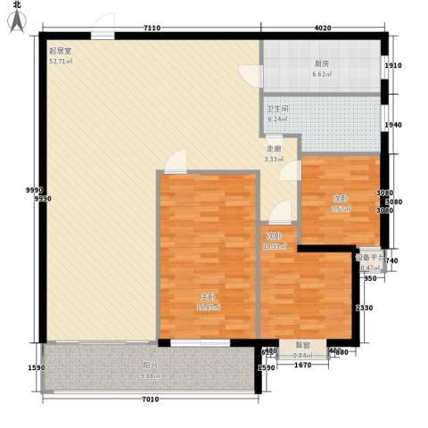 恒康阁3室0厅1卫1厨121.00㎡户型图