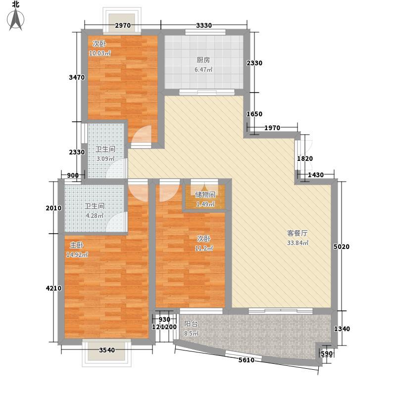 远大南北苑三室两厅户型3室2厅2卫