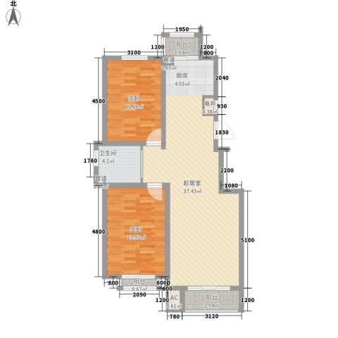 松原奥林匹克花园2室0厅1卫0厨95.00㎡户型图