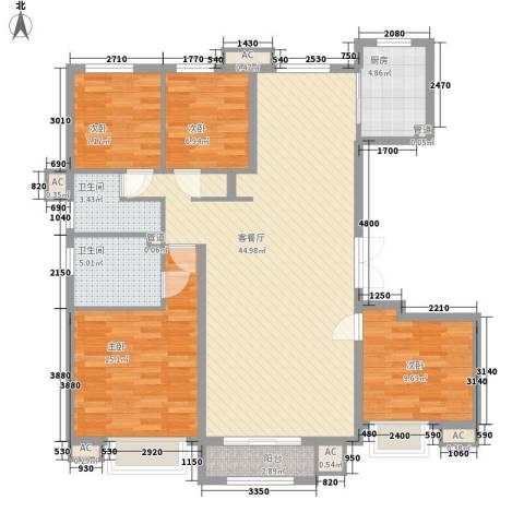 首开・国风美仑4室1厅2卫1厨139.00㎡户型图