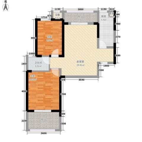 联发九都府2室0厅1卫1厨94.00㎡户型图