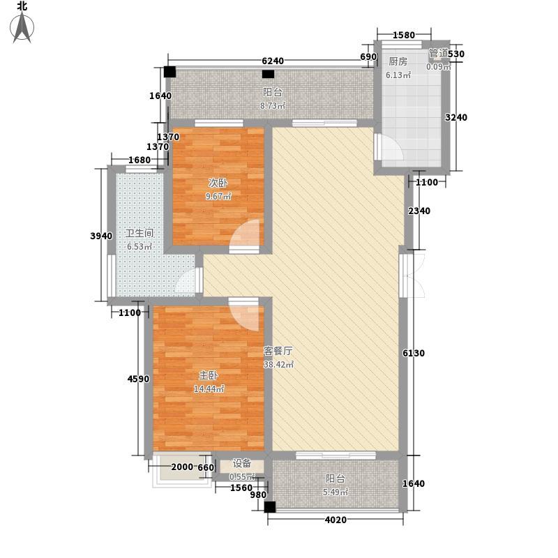 金域华府13.00㎡3栋A户型2室2厅1卫1厨