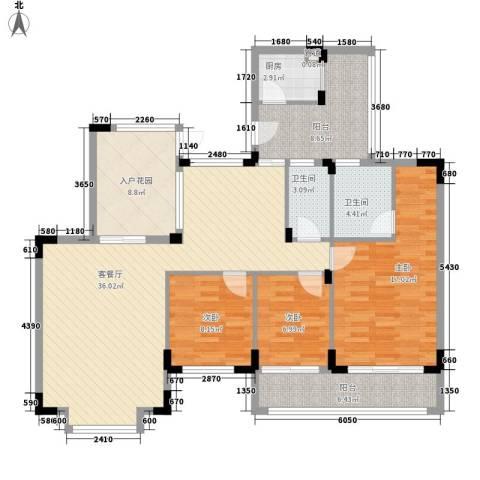 珠海易筑3室1厅2卫1厨146.00㎡户型图