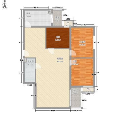 金地苑3室0厅1卫1厨131.00㎡户型图