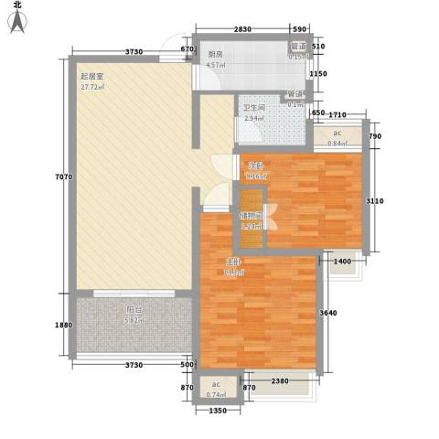 7星首府2室0厅1卫1厨96.00㎡户型图