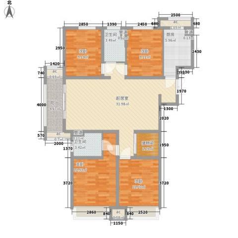 7星首府4室0厅2卫1厨141.00㎡户型图