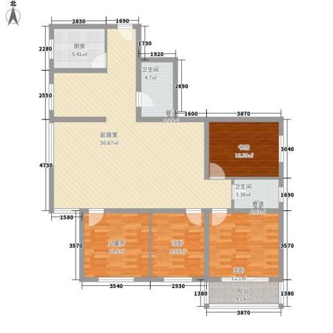 金地苑4室0厅2卫1厨158.00㎡户型图