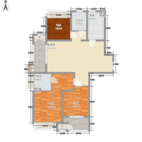 7星首府3室0厅2卫1厨129.00㎡户型图