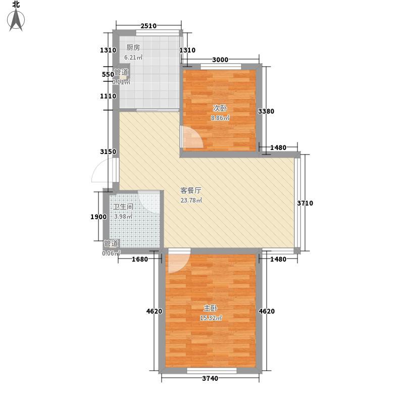 南风雅居83.00㎡南风雅居2室户型2室