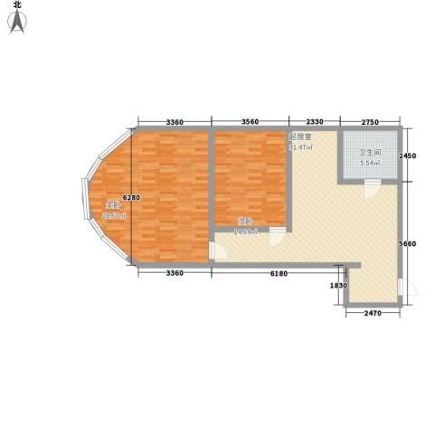 邻蠡中心2室0厅1卫0厨112.00㎡户型图