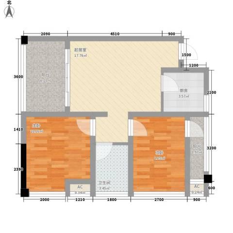 尚高・锦都2室0厅1卫1厨78.00㎡户型图