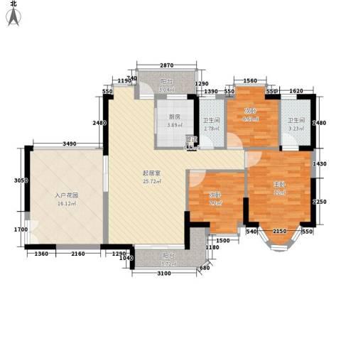 阳光花园五期3室0厅2卫1厨119.00㎡户型图