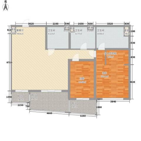 瑞苑公寓2室1厅3卫0厨163.00㎡户型图