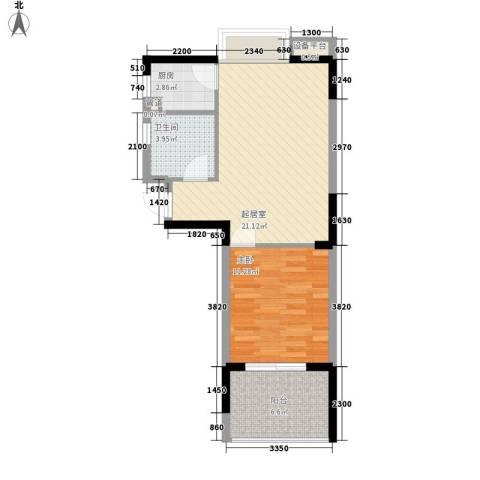 澄迈・温泉谷1室0厅1卫1厨66.00㎡户型图