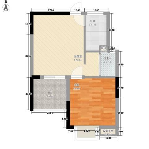 澄迈・温泉谷1室0厅1卫1厨56.00㎡户型图