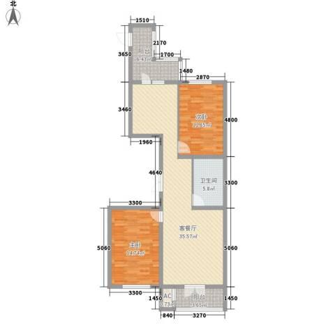 金京赛丽斯2室1厅1卫0厨79.78㎡户型图