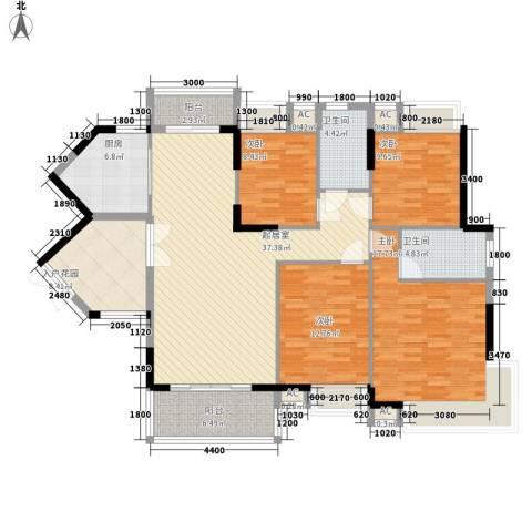 康怡花园4期4室0厅2卫1厨142.00㎡户型图