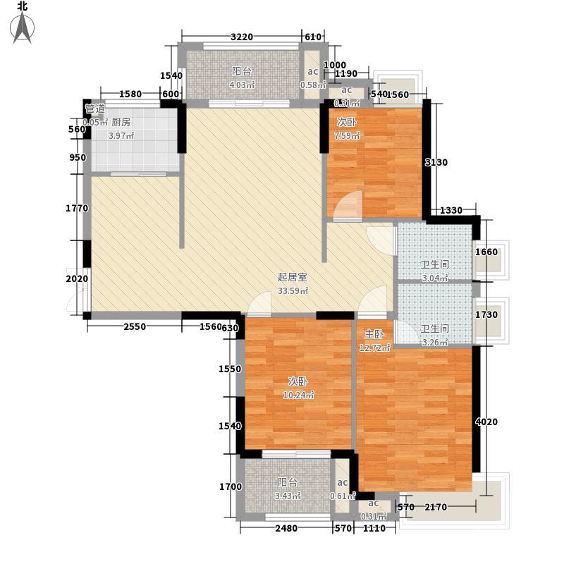 中茵上城美域119.00㎡中茵上城美域户型图A1-A4-C1户型图3室2厅2卫1厨户型3室2厅2卫1厨