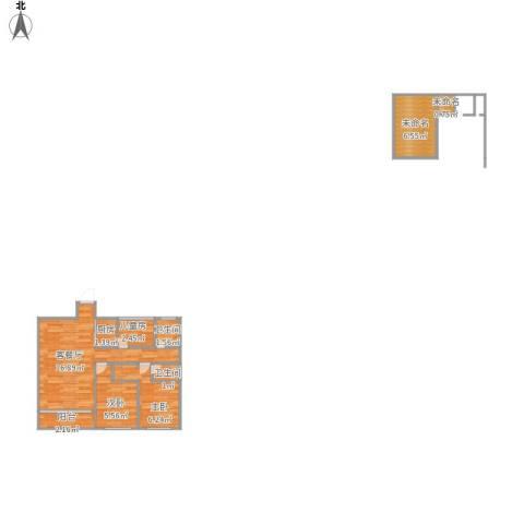 花样年江山3室1厅2卫1厨63.00㎡户型图