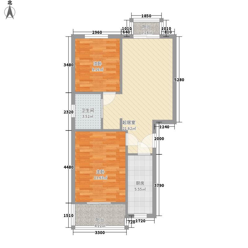 天使苑83.00㎡天使苑2室户型2室