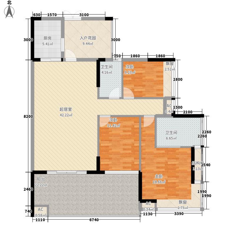 景秀江山3室1厅2卫1厨户型3室1厅2卫1厨