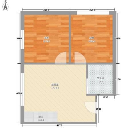 东滩花园2室0厅1卫0厨54.00㎡户型图