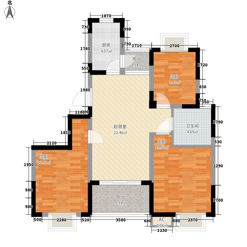 漕冲花园137.00㎡漕冲花园3室户型3室