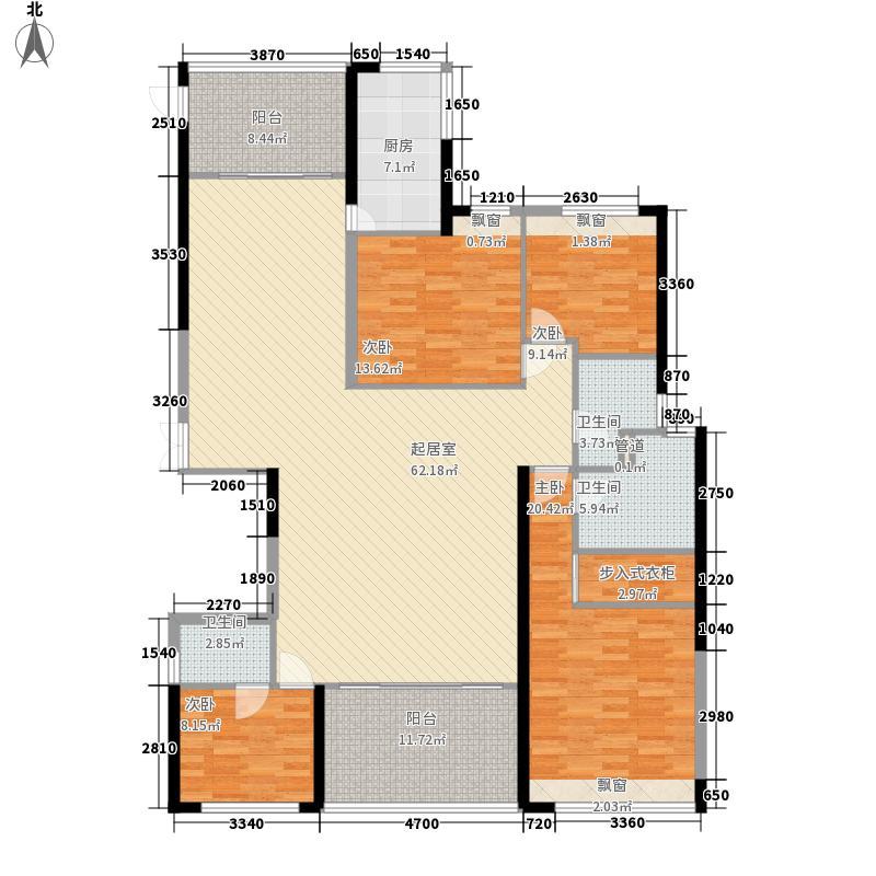 兰江山第户型图180平户型 4室2厅2卫1厨