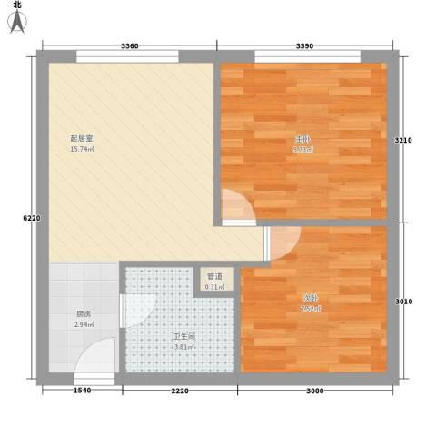 丽骏豪庭2室0厅1卫0厨42.00㎡户型图