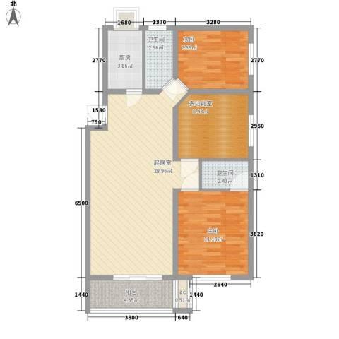 曙光商住楼2室0厅2卫1厨100.00㎡户型图