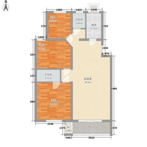 曙光商住楼3室0厅2卫1厨101.00㎡户型图