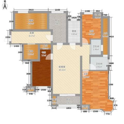 新江湾佳苑3室0厅2卫1厨125.00㎡户型图