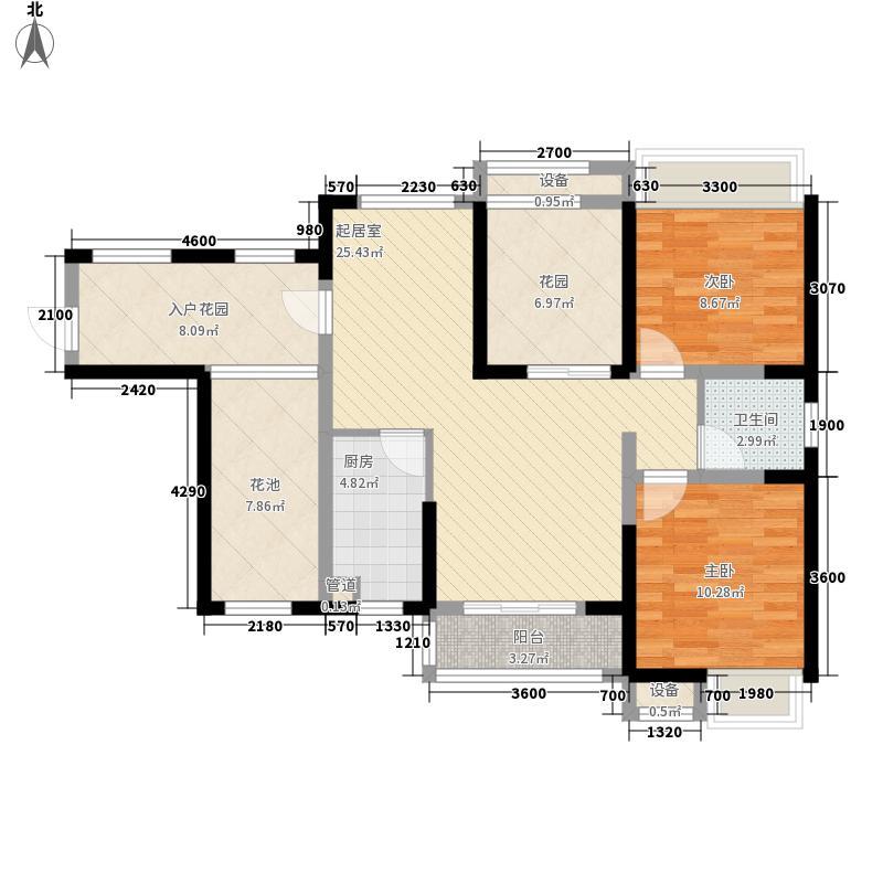 曼哈顿商业广场88.78㎡4#户型2室2厅1卫1厨