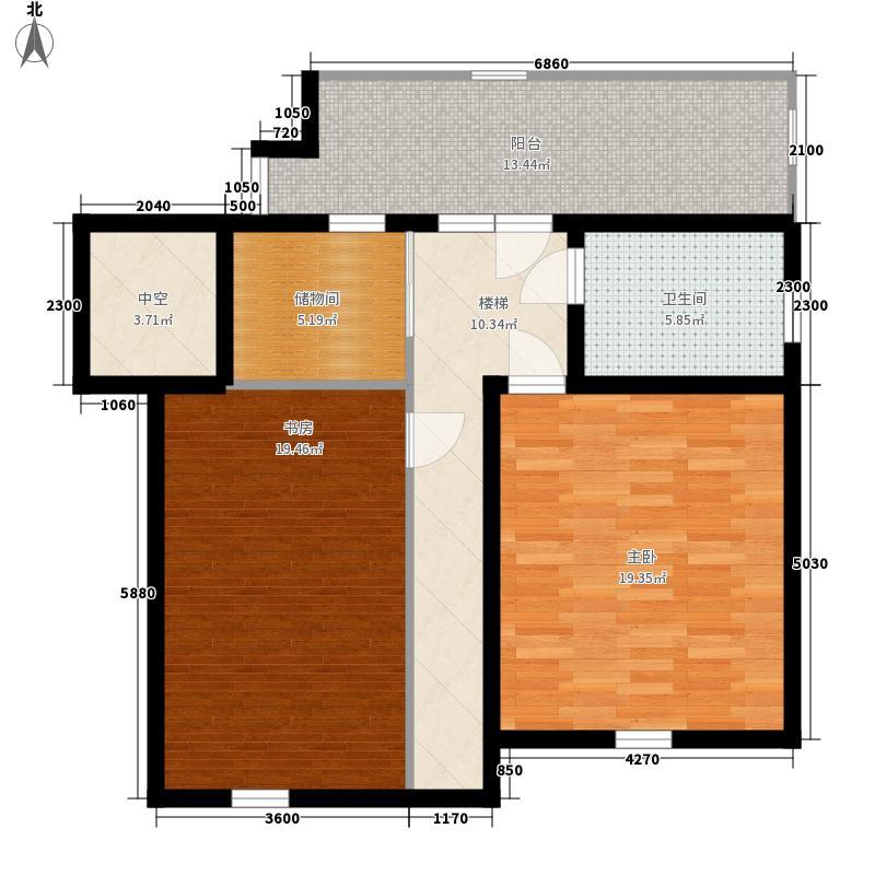 大有公馆159.00㎡H户型三室两厅两卫 159㎡ 二层68㎡户型3室2厅2卫