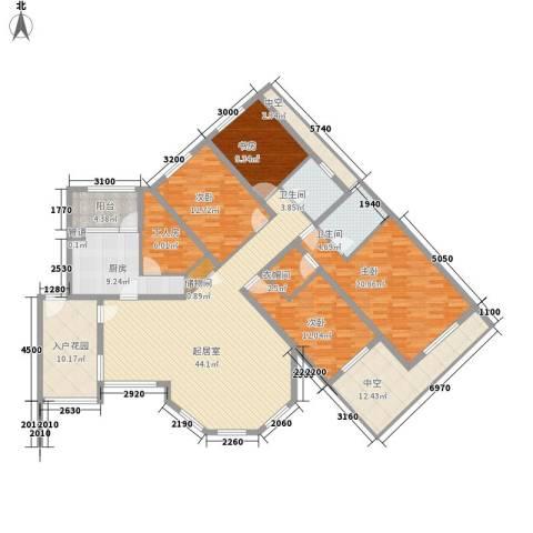珠江国际城别墅4室0厅2卫1厨176.00㎡户型图