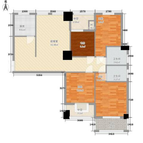凯仑帝景4室0厅2卫1厨132.00㎡户型图