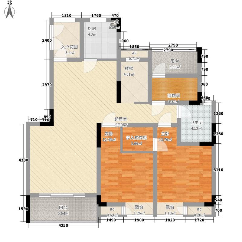 两江春城二期洋房5号地块2号楼1楼跃层B2'户型
