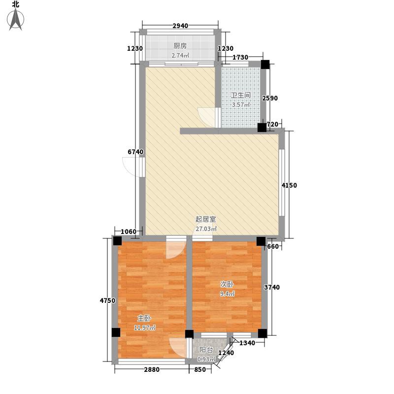 金华小区二期65.00㎡金华小区二期户型图2室1厅1卫1厨户型10室