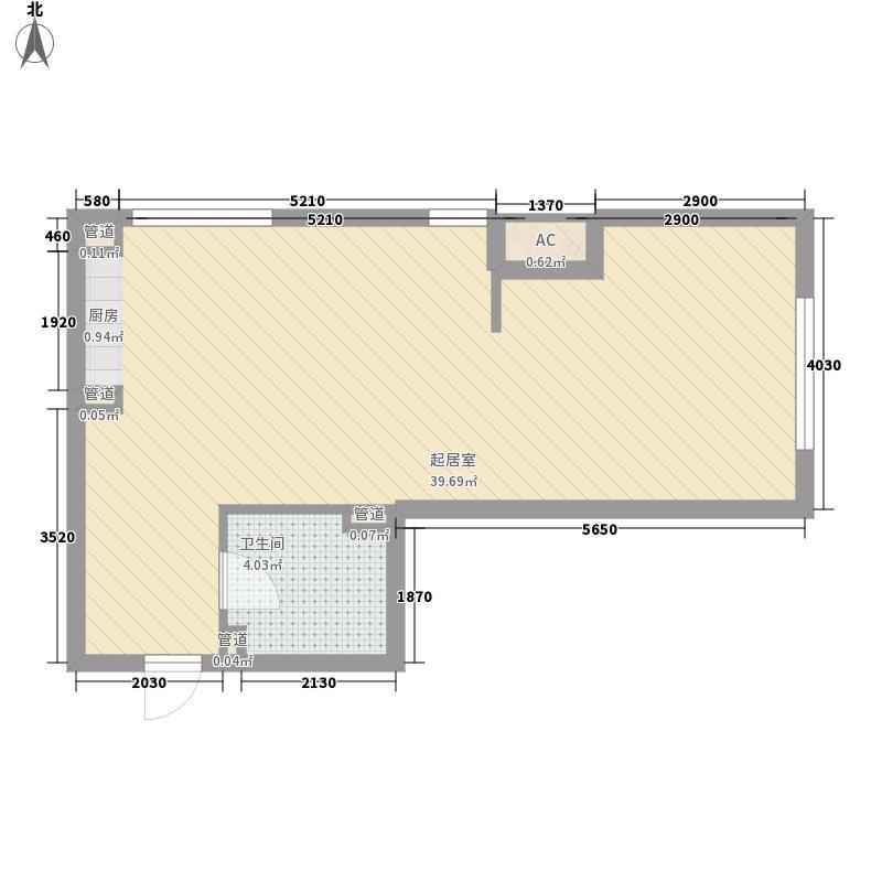 鹏利广场花园61.73㎡鹏利广场花园户型图格调阳光2室1厅1卫户型2室1厅1卫