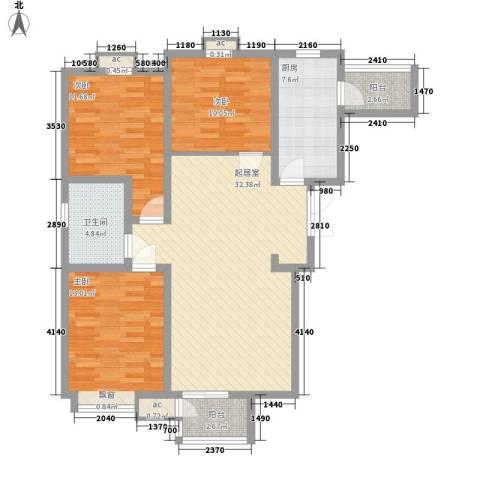 中建御邸世家3室0厅1卫1厨121.00㎡户型图