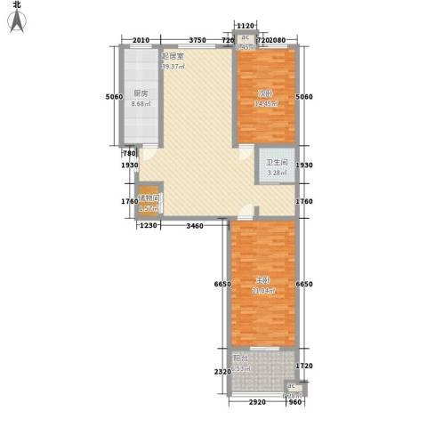 峰汇公馆2室0厅1卫1厨135.00㎡户型图