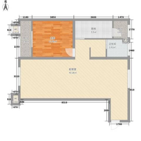 峰汇公馆1室0厅1卫1厨100.00㎡户型图