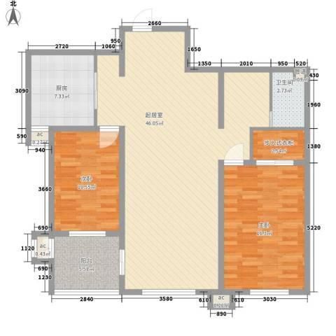 峰汇公馆2室0厅1卫1厨130.00㎡户型图